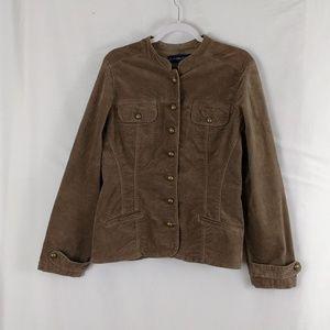 Bandolino corduroy jacket womans large brown